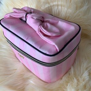 Victoria's Secret Signature Striped Carry Case